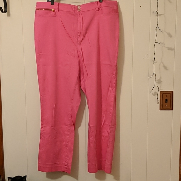 Lauren by RL bubblegum pink straight leg pant 20w